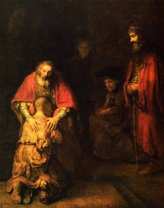 Rembrandt's  Return of the Prodigal Son 1662