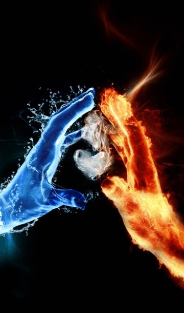 """The always juggled heart between fire and ice . . ."""