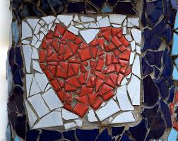 mosaic broken heart